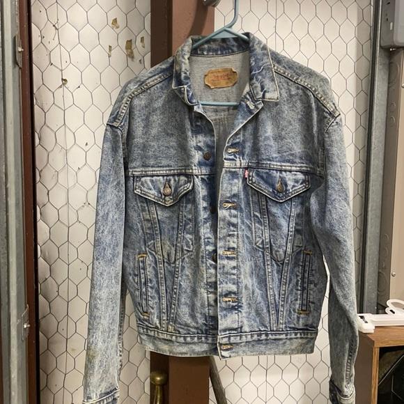 Vintage Acid Wash Levi's Jean Jacket XL